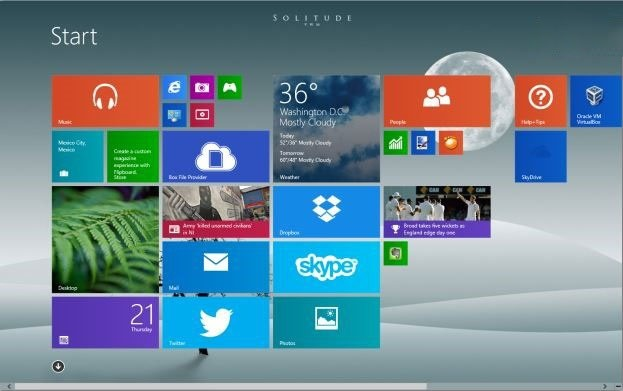 Custo ie win 8 start screen