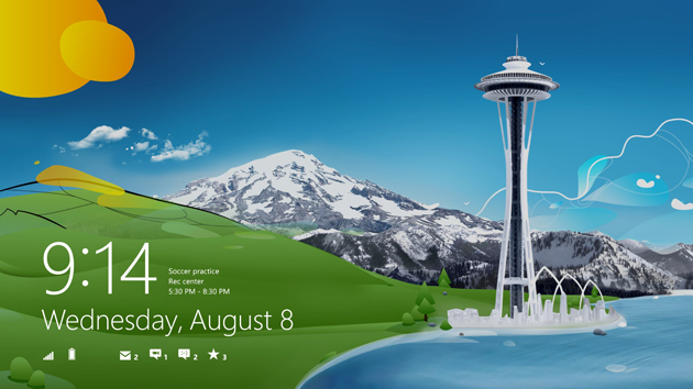 Windows 8 lock screen